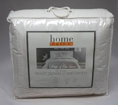 home design mt blanc white down comforter full queen heavyweight