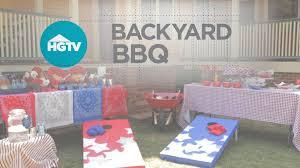 backyard bbq video hgtv