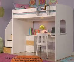 utica full size loft bed bedroom furniture beds berg furniture