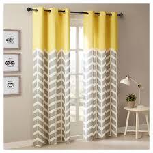 Chevron Design Curtains Elaine Chevron Printed Grommet Top Curtain Panel Pair Target