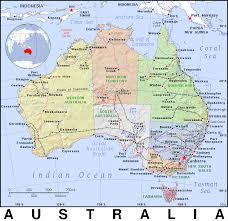 atlas map of australia australia aus au country map atlas