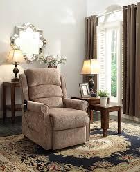 amazon com homelegance 8509 1lt power lift recliner chair brown