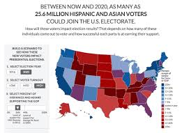 Presidential Election Map 2012 by Interactive Map Projects Potential Impact Of Hispanic And Asian