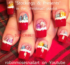 robin moses nail art christmas nails christmas nail art cute