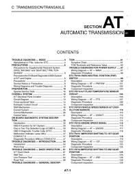 2003 nissan xterra automatic transmission section at pdf