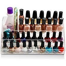 amazon com home it nail polish holder acrylic 5 step counter