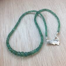 silver emerald necklace images Sterling silver emerald necklace alphavariable jpg
