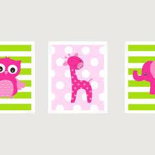 Pink And Green Nursery Decor Shop Pink Elephant Nursery Decor On Wanelo