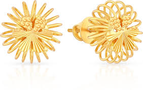 malabar earrings malabar gold and diamonds mhaaaaaavcmi 22 k gold stud earring in