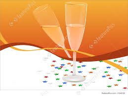 champagne clipart greetings card champagne glass illustration