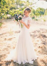 vintage ivory lace wedding dress chiffon wedding by valiantwang