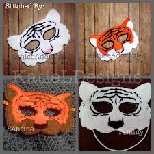 tiger mask halloween ith tiger mask machine embroidery design pattern download 5x7 6x10
