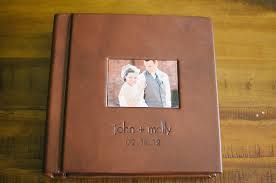 leather bound photo albums our wedding album only four years late still being molly