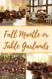 gorgeous fall mantle garlands for a fall or thanksgiving mantle or