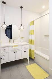 Teenage Bathroom Themes Simple Boy Teenage Bathroom Ideas With Striped Curtain And Yellow