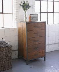 industrial style bedroom furniture five drawer tallboy homegirl