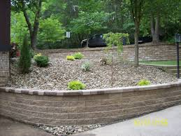 Terraced Retaining Wall Ideas by Decorating Versa Lok Accent Unit For Retaining Wall Ideas