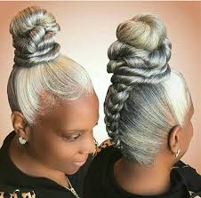 how to wear short natural gray hair for black women pin by olivia green on olivia s head magic pinterest gray hair