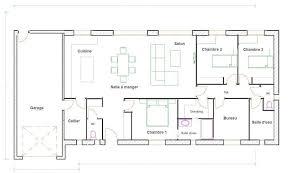 plan maison plain pied 4 chambres avec suite parentale maison en bois plans maisons with plan maison plain pied 4