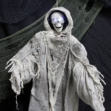 halloween haunters 3 foot animated hanging death reaper prop