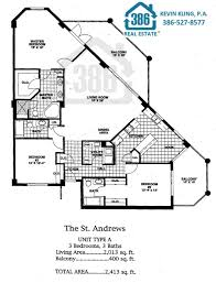 Condo Blueprints by Links At Harbour Village In Ponce Inlet Floor Plans