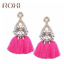 dangle earrings roxi women tassel earrings handmade ethnic bohemian rhinestone