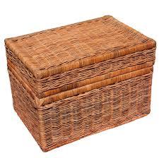 furniture cheap natural wicker storage trunk chest decorative