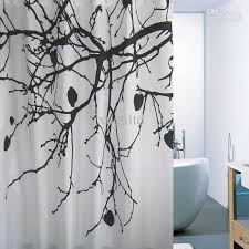 2017 branch printed fabric shower curtain polyester waterproof