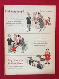 kleenex tissue vintage ad featuring little lulu 1956 wall decor