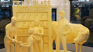 a toast to butter sculpture the art that melts the hearts of the