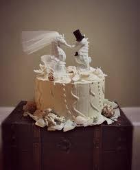 Cake Decorations Beach Theme - seahorse kissing wedding cake topper beach themed wedding cake