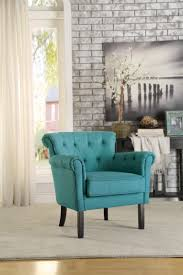 Teal Accent Chair Homelegance Barlowe Accent Chair Teal 1193f5s