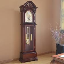 best household grandfather clock pendulum wood living room