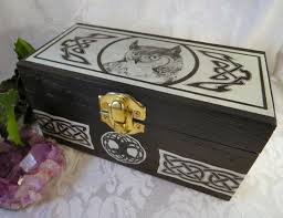 celtic owl box with celtic knotwork wooden owl jewelry box