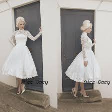 turmec long sleeve short white lace wedding dress