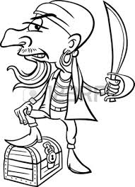 free pirate clipart black and white clipartxtras