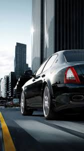 maserati sedan black maserati quattroporte black city android wallpaper free download