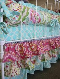 3 tiered and 3 sided ruffles crib skirt with by sewwhatgrandma