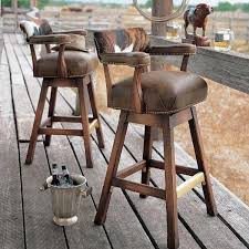 bar stools that swivel rustic leather fabric blend swivel barstools 1000 ideas about