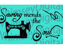 sewing wall decal etsy