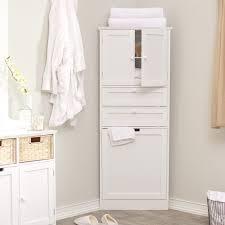 Bathroom  Tall Narrow Corner Bathroom Linen Stand Tower Cabinet - Tall bathroom linen cabinet white