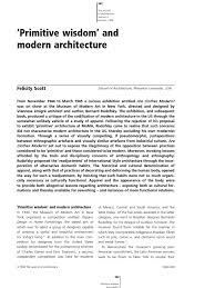 felicity scott primitivism wisdom and modern architecture