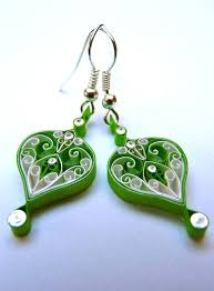 eco earrings 101 best quilling earrings images on quilling earrings