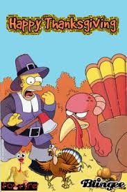 happy thanksgiving simpsons picture 34110399 blingee