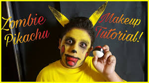 scary zombie pikachu halloween makeup tutorial easy diy halloween