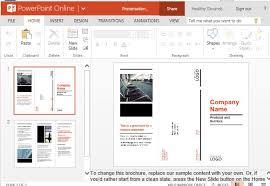 tri fold brochure template powerpoint free business brochure