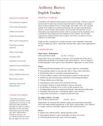 Resume Examples Teacher by 29 Teacher Resume Templates Free U0026 Premium Templates