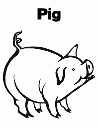 cartoon pig coloring pages kids coloring
