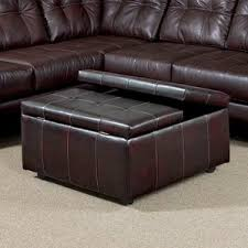 faux leather ottomans u0026 poufs you u0027ll love wayfair