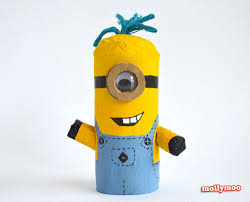 mollymoocrafts toilet roll crafts for kids despicable me minions